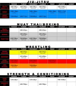2015 Wrestling Class Schedule.001